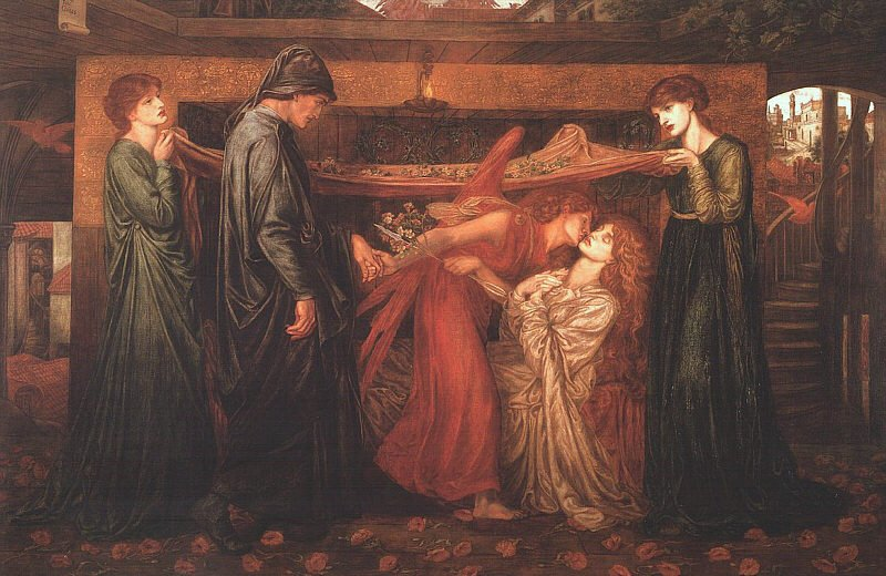 dante s dream at the time of the death of beatrice by rossetti my daily art display. Black Bedroom Furniture Sets. Home Design Ideas
