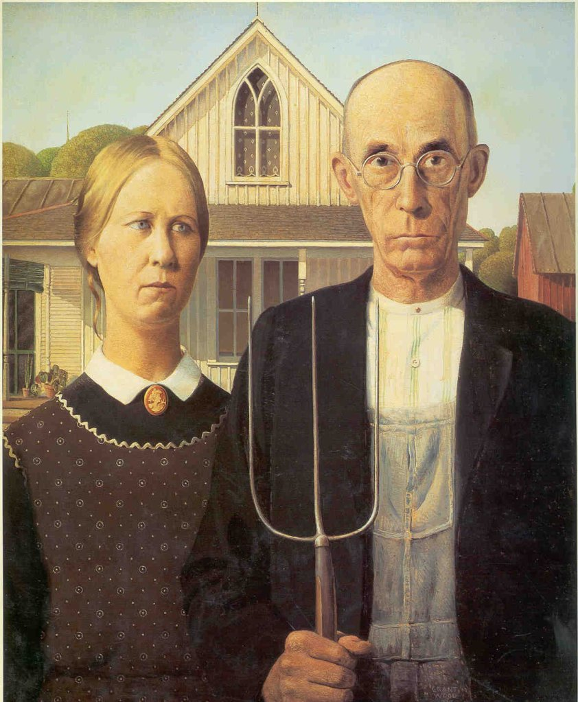 1930s American Paintings Grantwood American Gothic 1930