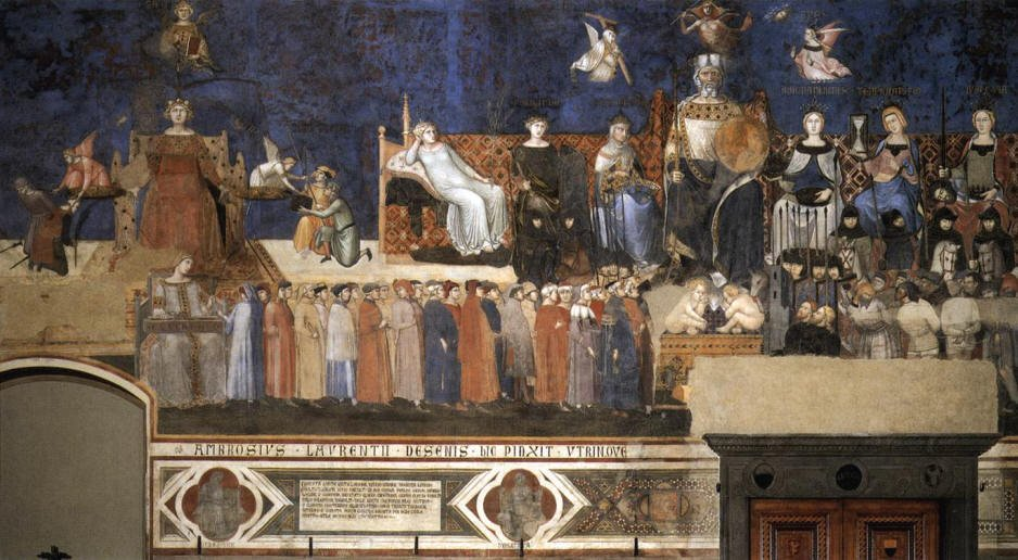 Allegory of Good Government by Ambrogio Lorenzetti (c.1338-40)
