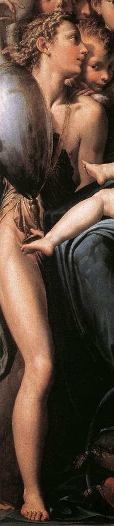 Madone au long cou, détail: Ange à l'amphore