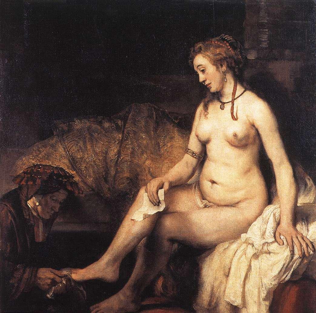 bath Bathsheba rembrandt her at