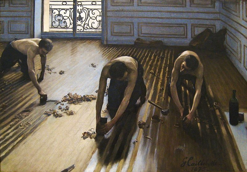 Zbirka slika The-floor-scrapers-by-gustave-caillebotte