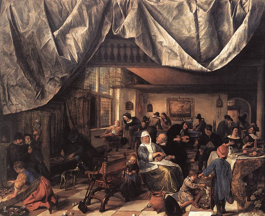 jan steen Jan steen a school for boys and girls about 1670  steen is best known for his  witty and chaotic scenes of everyday life designed to educate and entertain.