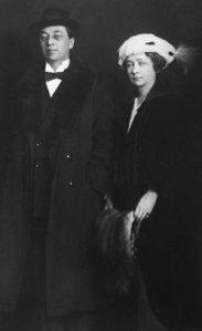 Kandinsky and Münter Winter 1916 Stockholm