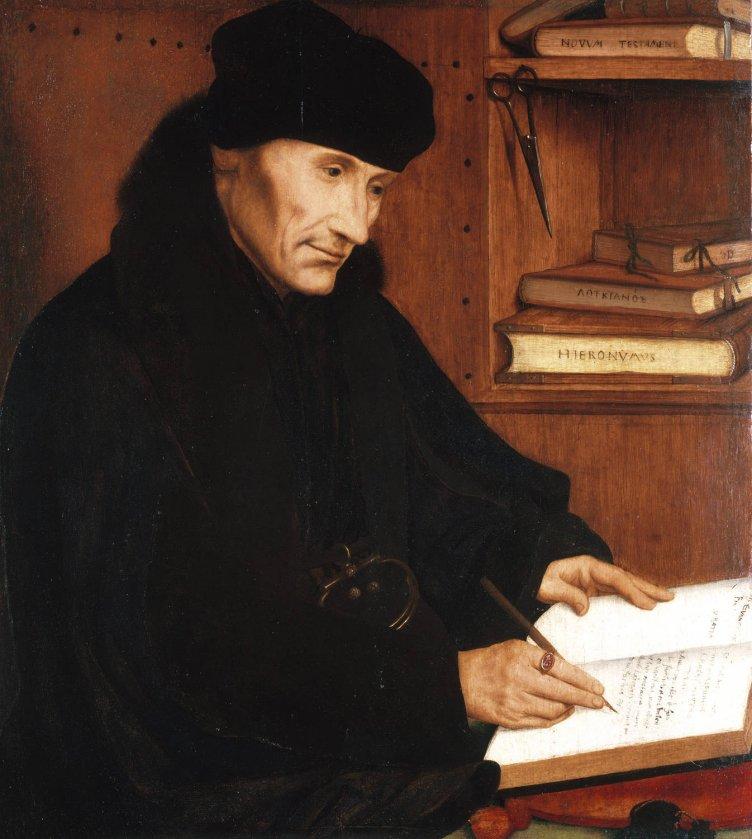 Desiderius Erasmus by Quinten Massys (1517)