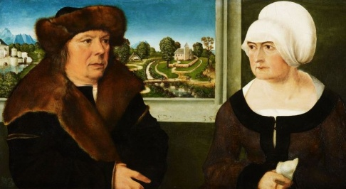 Portrait of a Man and His Wife by Ulrich Apt and Workshop (1521)Queen's Gallery London