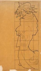 Van Gogh's tracing for The Courtesan(Van Gogh Museum)
