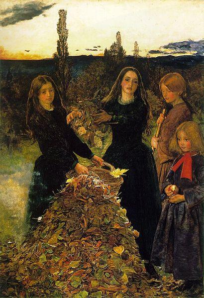 Autumn Leaves by John Everett Millais (1856)