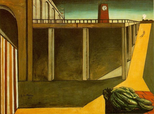 Gare Montparnasse, (The Melancholy of Departure) by Giorgio de Chirico (1914)
