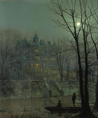 Knostrop Old Hall, Leeds by Atkinson Grimshaw