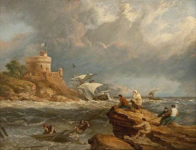 Rocky Seascape with Shipwreck by Clarkson Frederick Stanfield