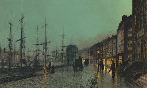 Shipping on the Clyde by Atkinson Grimshaw (1881)
