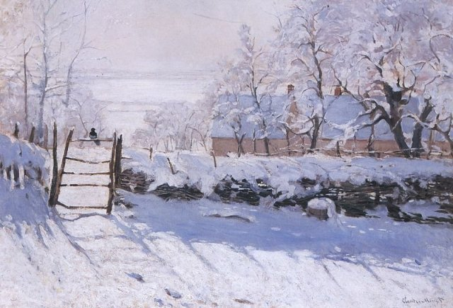 The Magpie by Claude Monet (1868)