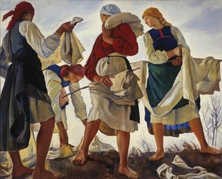 Bleaching Cloth by Zanaida Serebriakova (1917)