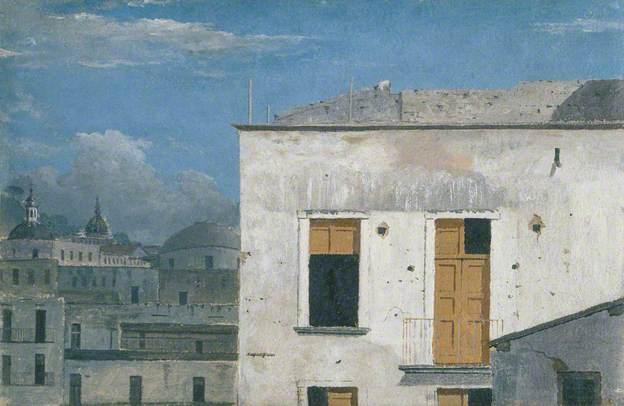 Buildings in Naples by Thomas Jones (1782)