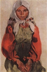 Country Girl by Zinaida Serebriakova (1906)