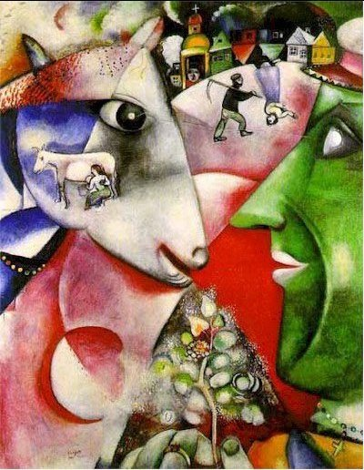 I and the Village and The Birthday by Marc Chagall | my daily art ...