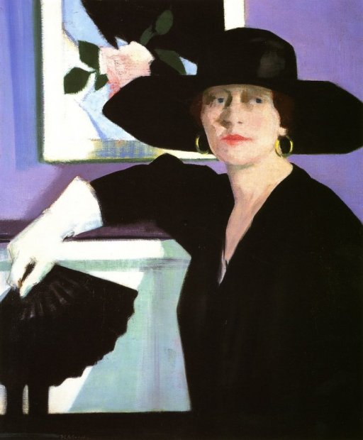 Portrait of a Lady in Black by Francis Cadell