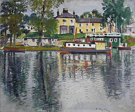 Reflections, Balloch by George Leslie Hunter (1930)