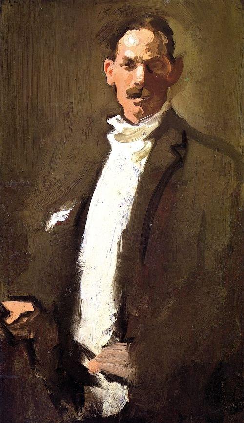 Self-portrait by S.J.Peploe (c.1900)