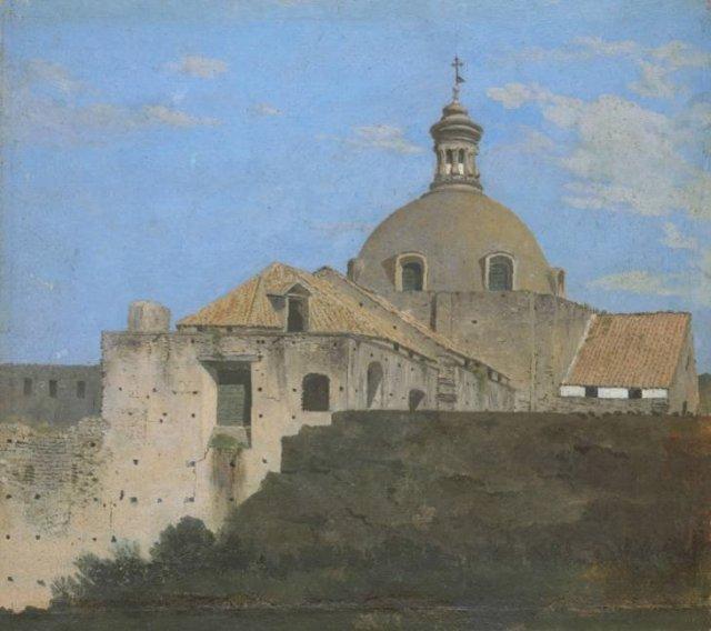The Cappella Nuova outside the Porta di Chiaia, Naples, by Thomas Jones (1782)