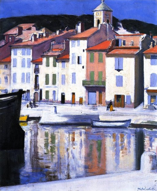 The Harbour, Cassis by Francis Cadell (1924)