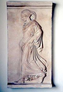 Bas-relief of Gradiva