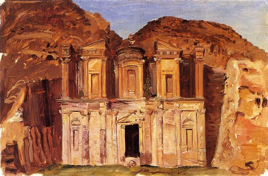 Ed Deir, Petra Jordan by Frederic Church (1868)