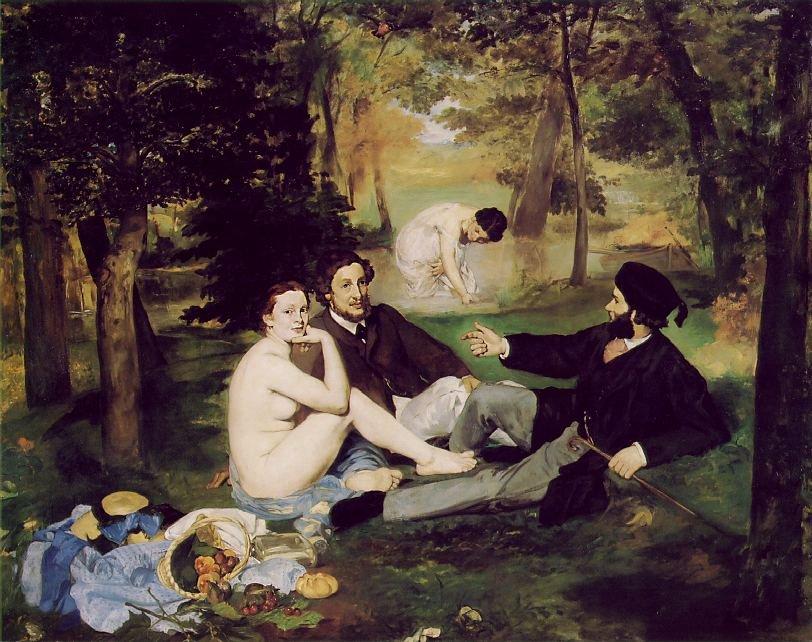 Le Déjeuner sur l'herbe by Édourad Manet (1862-1863)