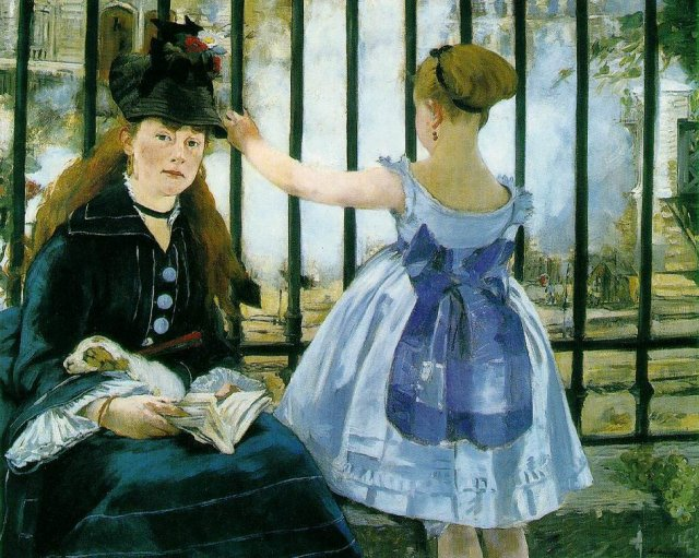 Gare Saint-Lazare or The Railway by Édouard Manet (1873)