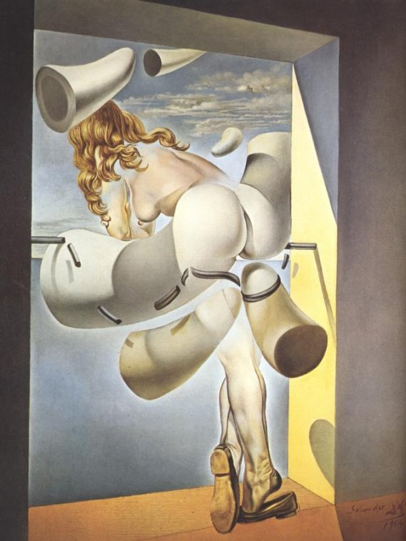 Young Virgin Autosodomized by her Own Chastity by Dali (1954)
