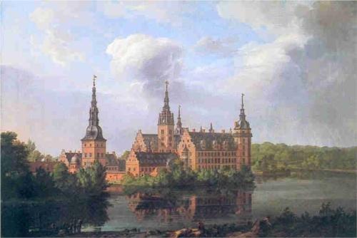 Frederiksborg Castle by J.C Dahl (1814)
