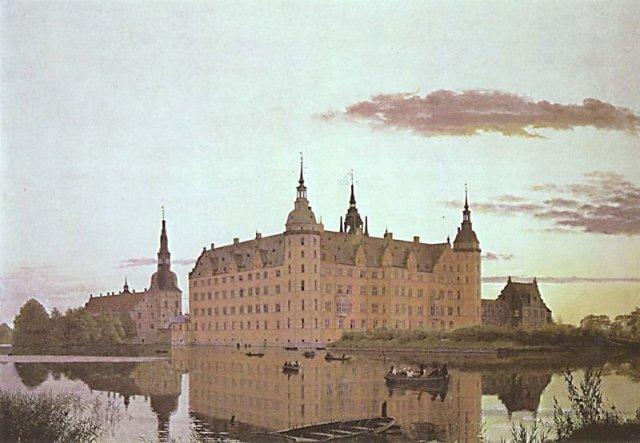 Frederiksborg Castle in the Evening Light by Christen Købke (1835)