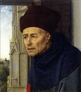 Head of St Joseph by Rogier van der Weyden (before 1438)