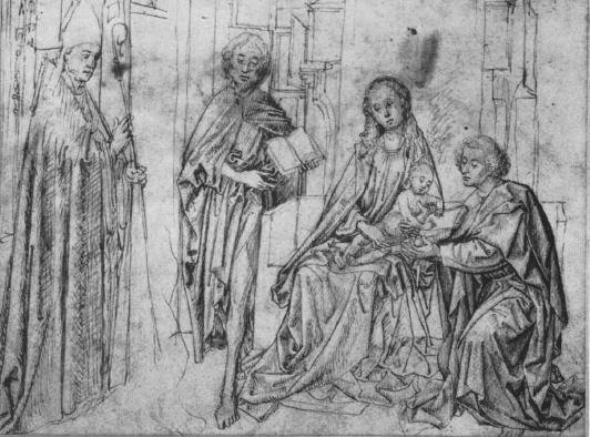 Sketch of Madonna and Child with Saints