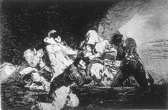 One Can't Look by Francisco de Goya (1863)