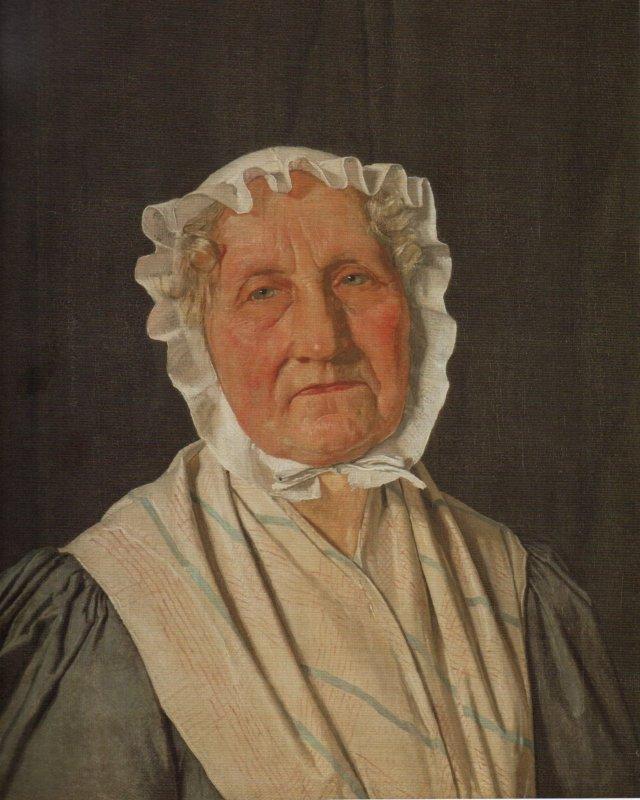 Portrait of Inger Margrethe Høyen, née Schrøder, The Art Historian N.L. Høyen's Mother by Christen Købke (1832)