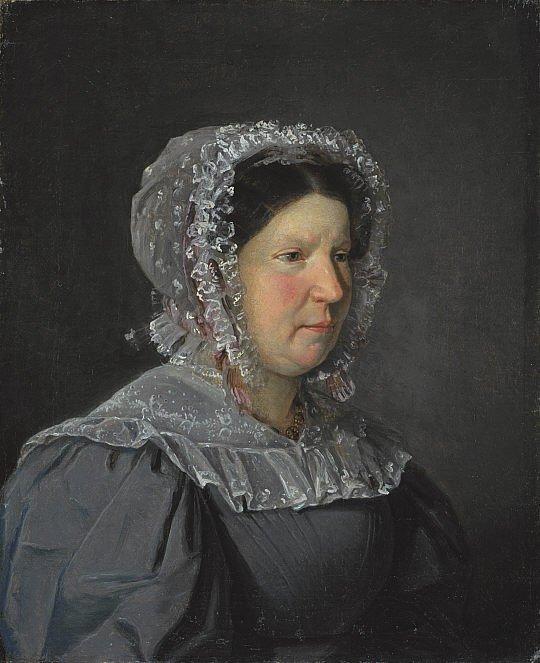Portrait of the Artist's Mother, Cecilia Margrete, née Petersen by Christen Købke (1829)