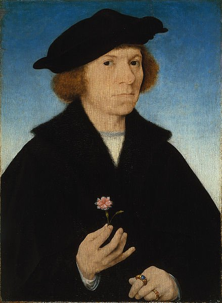 Self portrait by Joos van Cleve (1519) Museo Thyssen-Bornemisza, Madrid