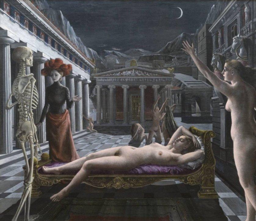 Sleeping Venus by Paul Delvaux (1944)