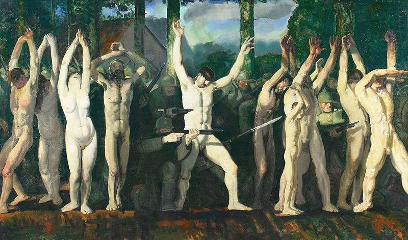 The Barricade by George Bellows (1918)