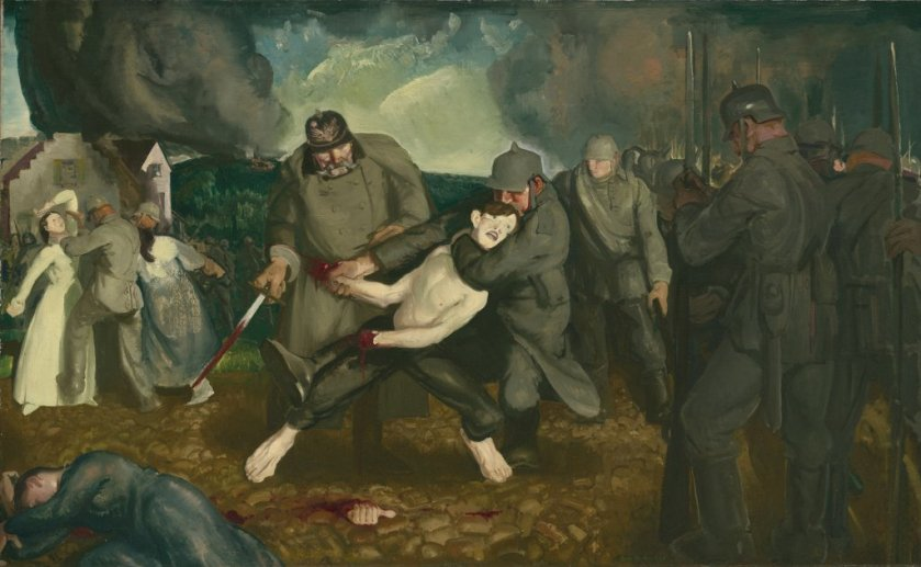 The Germans Arrive by George Bellows (1918)