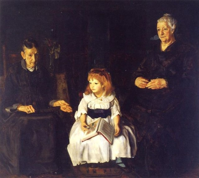 Elinor, Jean and Anna by George Bellows  (1920)