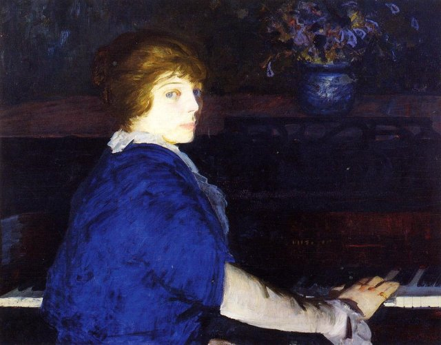 Emma at the Piano by George Bellows (1914)