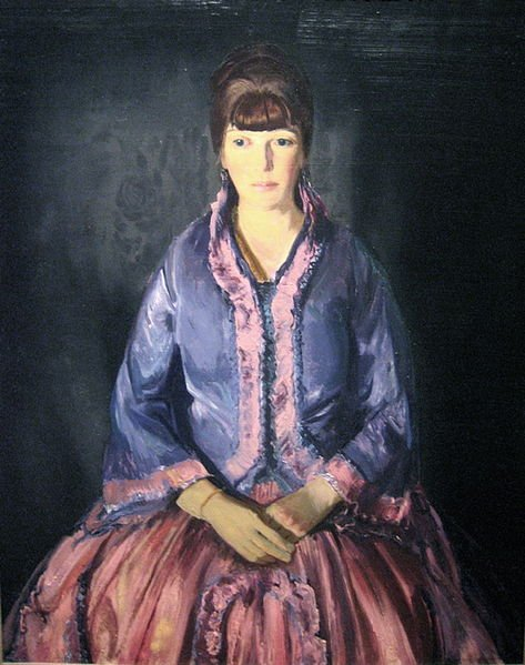 Emma in a Purple Dress by George Bellows (1919)