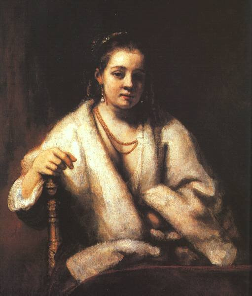 Portrait of Hendrickje Stofells by Rembrandt (c.1656)