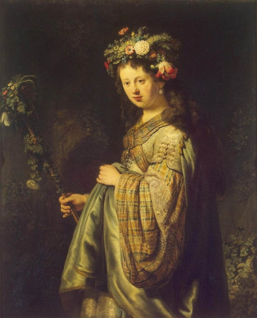 Saskia as Flora  by Rembrandt (1634)