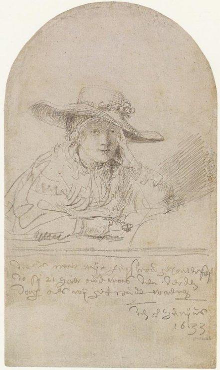 Saskia van Uylenburgh The Artist's Bride of Three Days  by Rembrandt (1633)