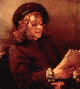 Titus Reading  by Rembrandt (1657)