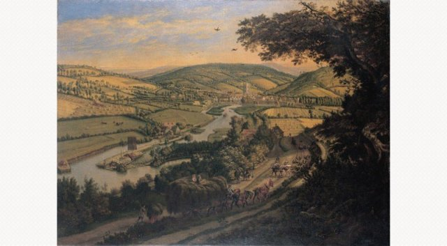 Henley from the Wargrave Road by Jan Siberechts (1698)